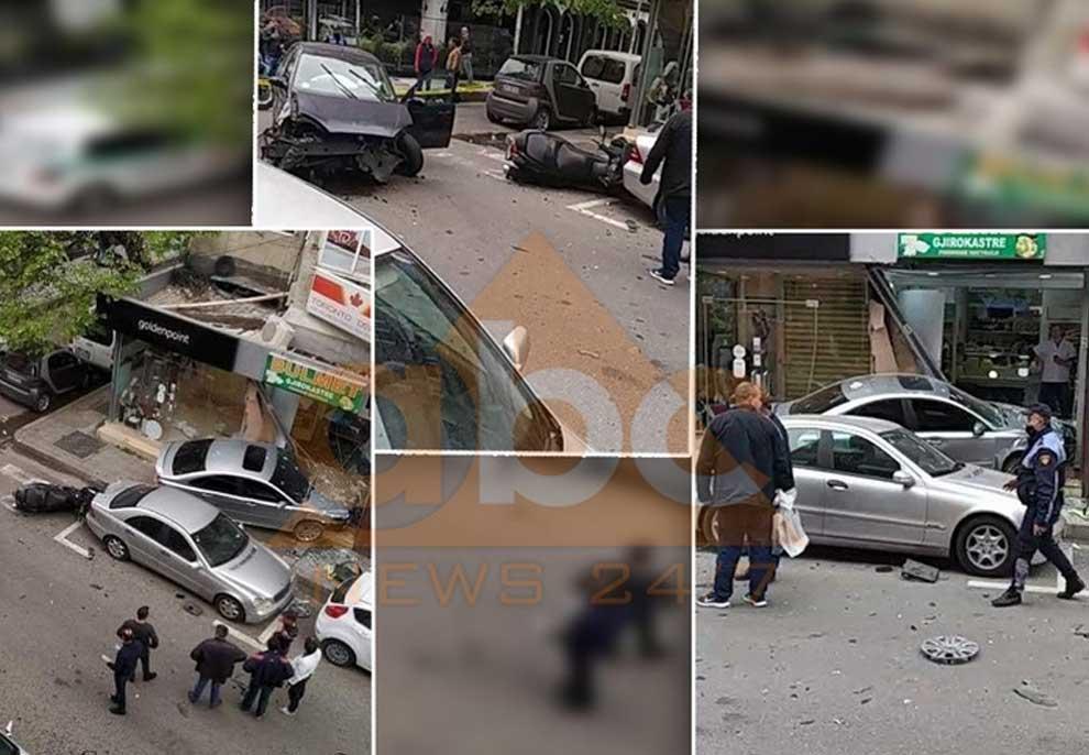Kur të aksidenton shteti/ Me shpejtësi skëterrë polici i rrugores mori para makinat, rëndë një grua