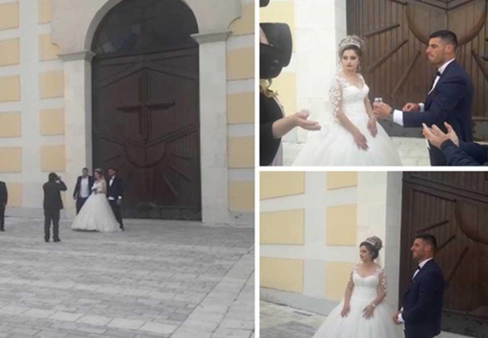 Në mes të pandemisë, dy të rinjtë shqiptar kurorëzojnë në martesë dashurinë/ Video