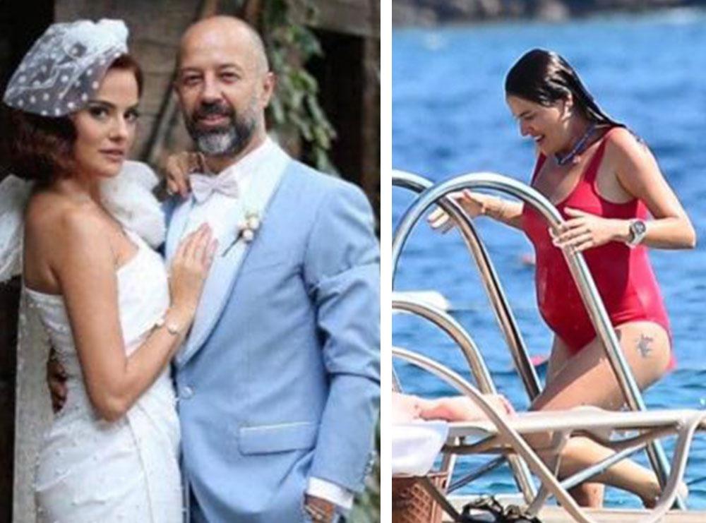 Aktorja turke në pritje të ëmbël, fotografohet me barkun e rrumbullakosur gjatë pushimeve