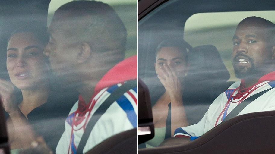 """""""Është e rraskapitur""""- Kriza në martesë, Kim Kardashian më në fund bashkohet me Kanye West, fotografohet duke qarë në makinë"""