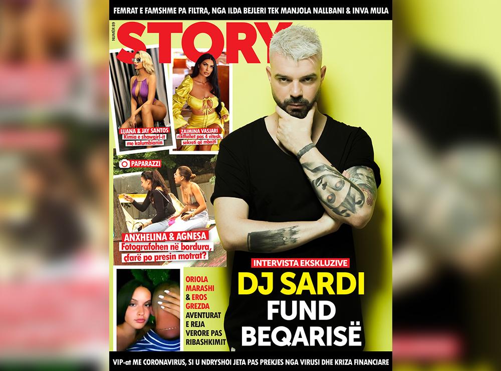 """Dj Sardi rrëfehet ekskluzivisht për kopertinën e revistës """"Story"""""""