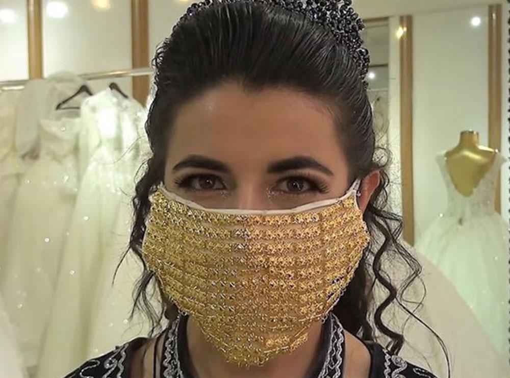 10 mijë dollarë maska e nusërisë, aksesori i ri i dasmave të koronavirusit
