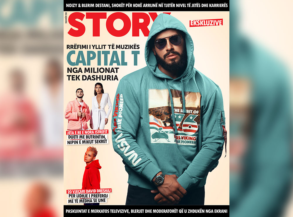 """Capital T në kopertinën e re të revistës """"Story""""!"""