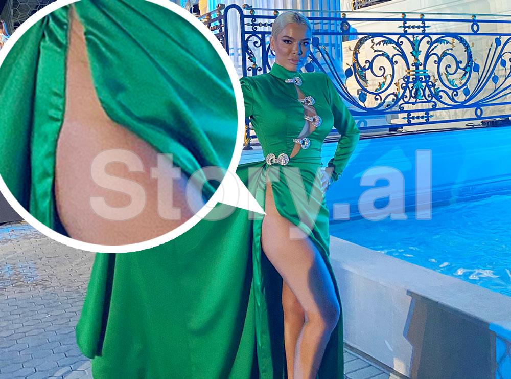 """Olta Sheta pa mbathje në """"Miss Universe"""", e çara e fustanit i zbulon format bombastike"""