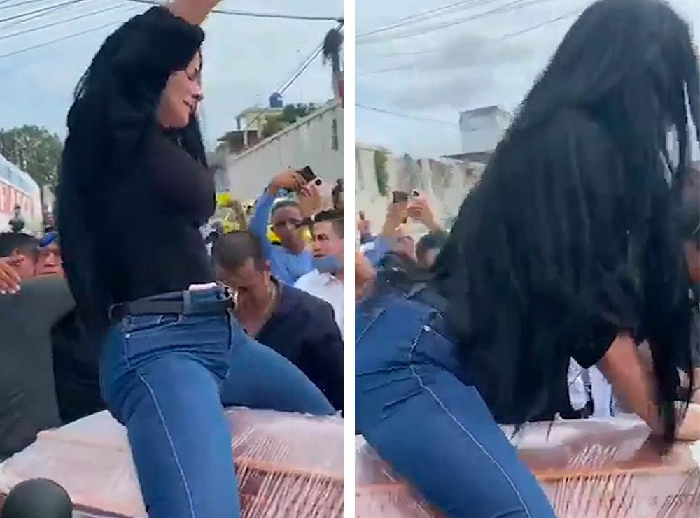 VIDEO/ I vranë të dashurin me armë, gruaja bën twerk majë arkivolit gjatë ceremonisë mortore