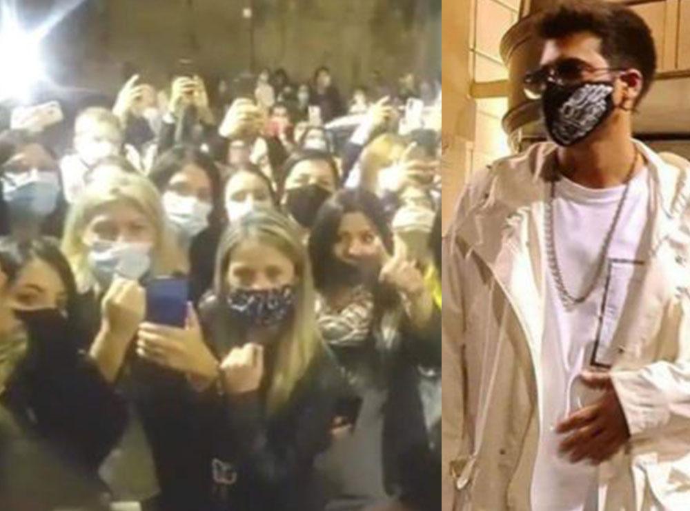 Fansat thyejnë rregullat anti-covid për Can Yamanin, aktori bën namin në Itali