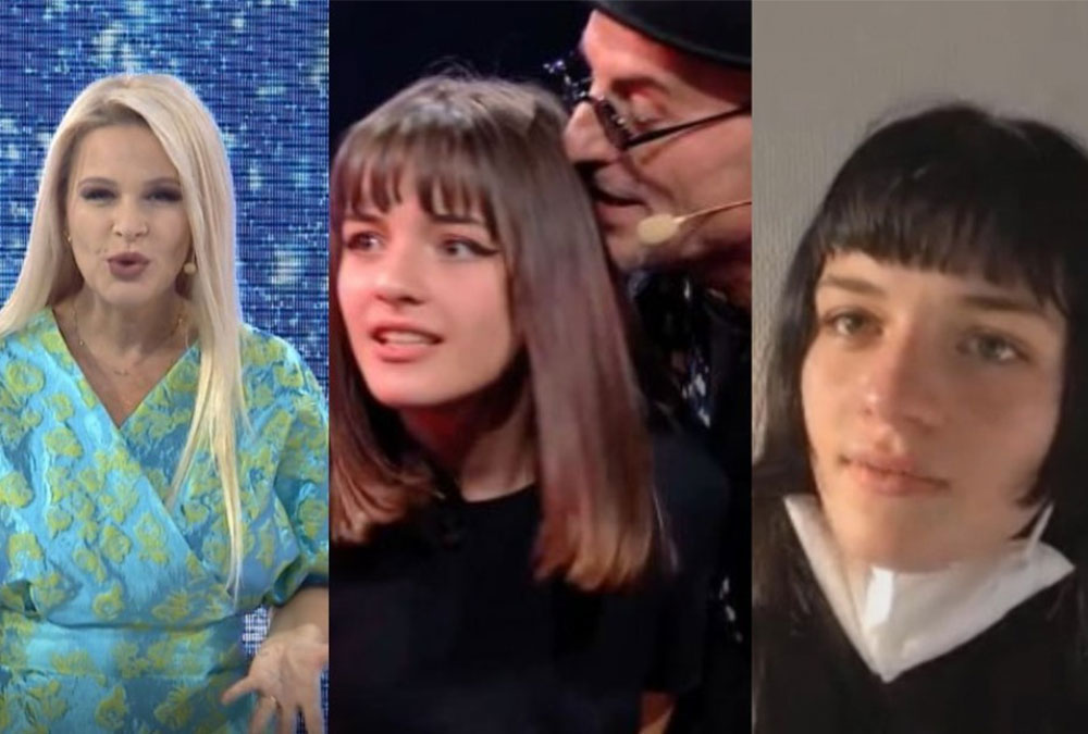 """'What the f*ck'/ Vajza e Robert Aliajt shan padashje në emision, moderatorja vihet në siklet: Uau Gala! Jemi """"live"""""""