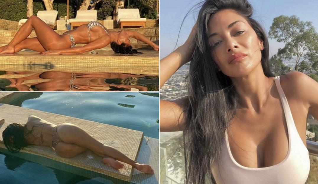 Nicole Scherzinger zgjedh të stërvitet në natyrë, por linjat trupore seksi tërheqin vëmendjen e të gjithëve