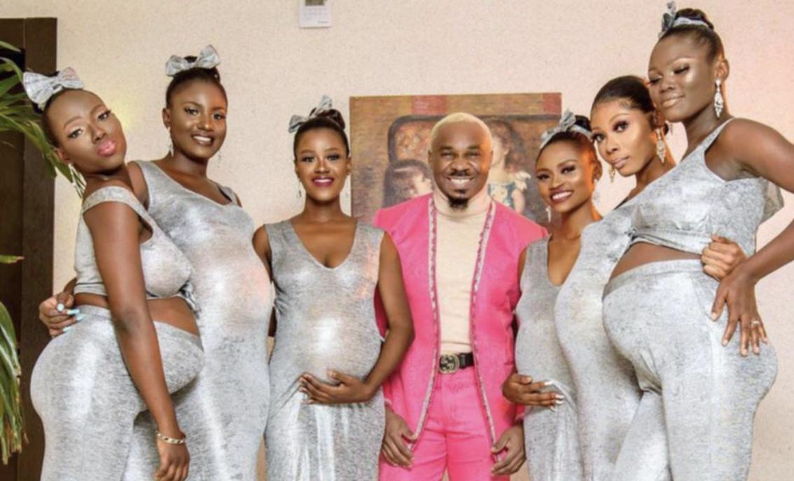 Influenceri i njohur shfaqet në dasmë me 6 gratë e tij shtatzëna!