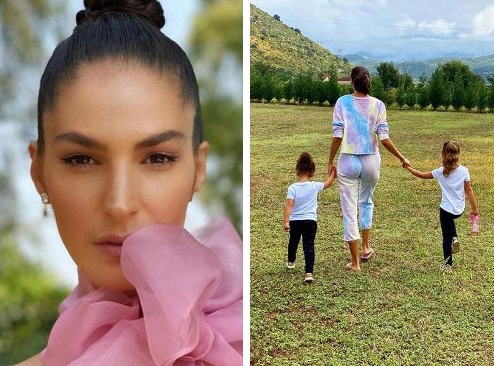 Emina Çunmulaj publikon videon e vajzës së veshur me kostum popullor, duke ju mësuar miqve të huaj traditat shqiptare