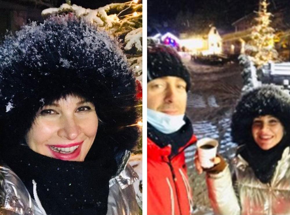 Rudina Magjistari në pushime dimërore me familjen, publikon fotot e rralla me bashkëshortin