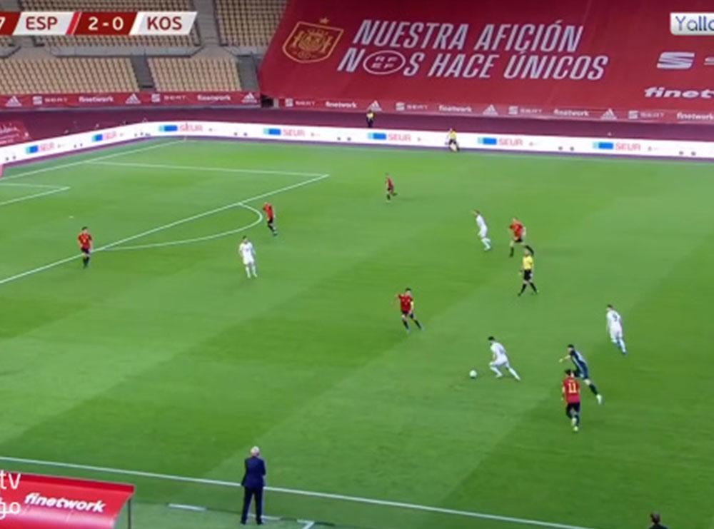 Video/ Gol nga mesi i fushës: Kosova humbet, por i shënon Spanjës në mënyrë spektakolare