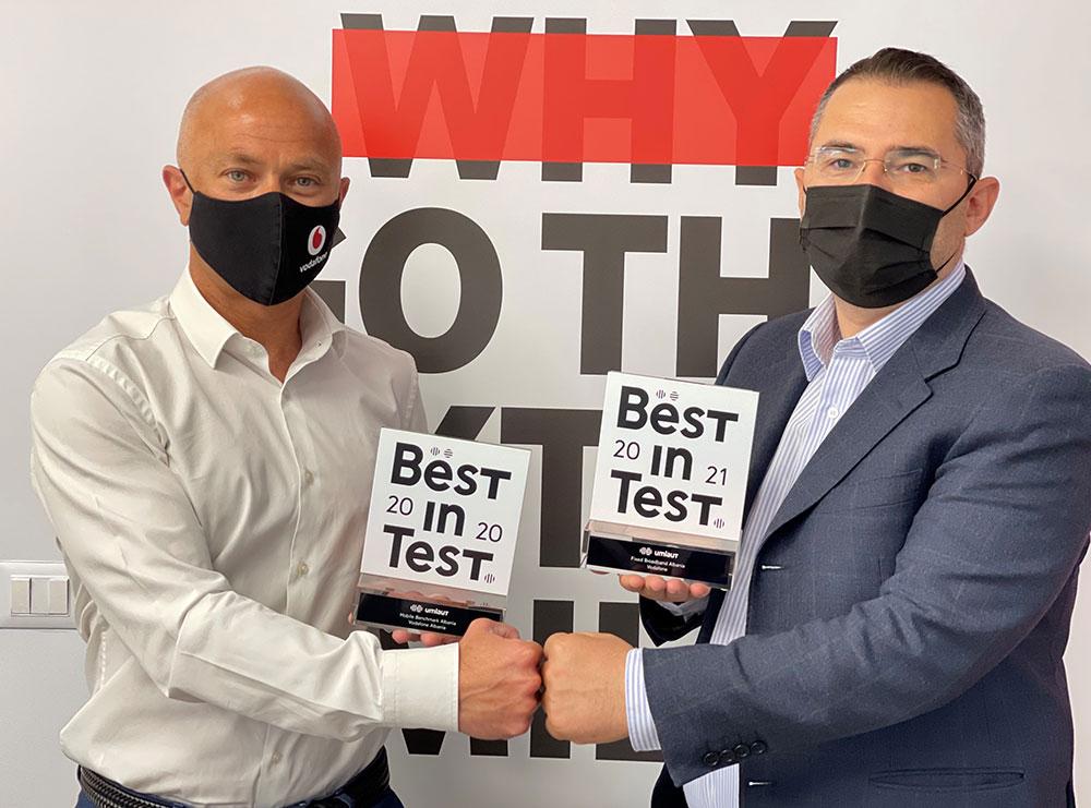 UMLAUT vlerëson Vodafone Albania si rrjeti më i mirë fiks në Shqipëri