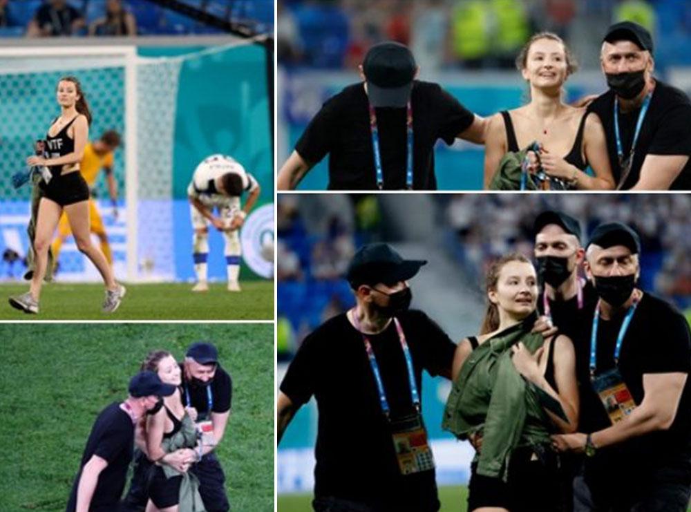 U fut në fushë gjatë ndeshjes Finalndë-Belgjikë, zbulohet mbishkrimi në bluzën e vajzës me format bombastike