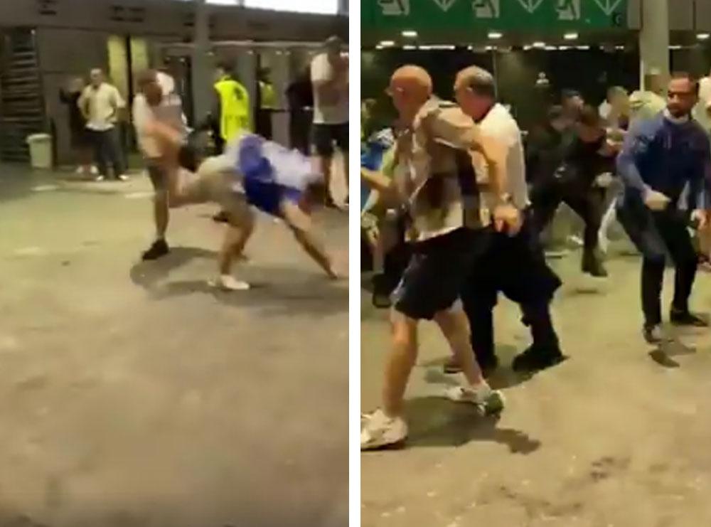 Skena të turpshme të anglezëve/ I bëjnë pritë dhe rrahin italianët jashtë stadiumit (VIDEO)