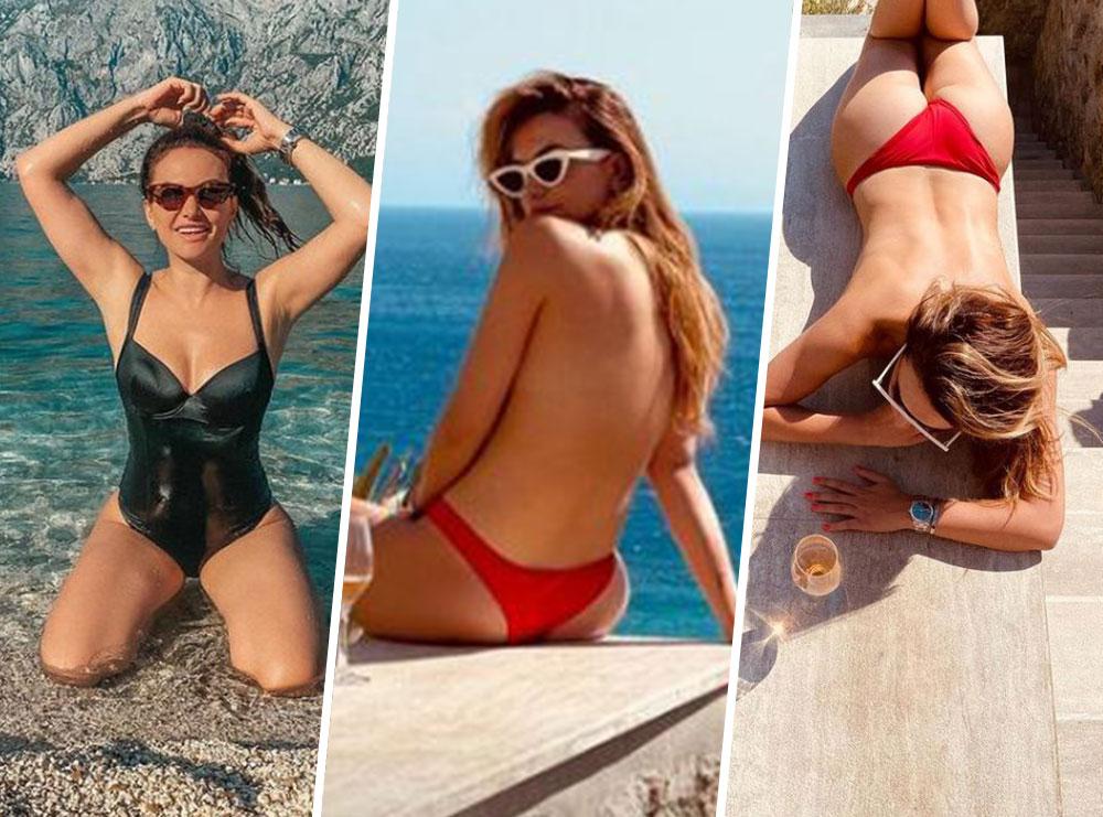 """Liberta Spahiu mahnit me linjat trupore, pozon """"topless"""" nga pushimet në Greqi"""