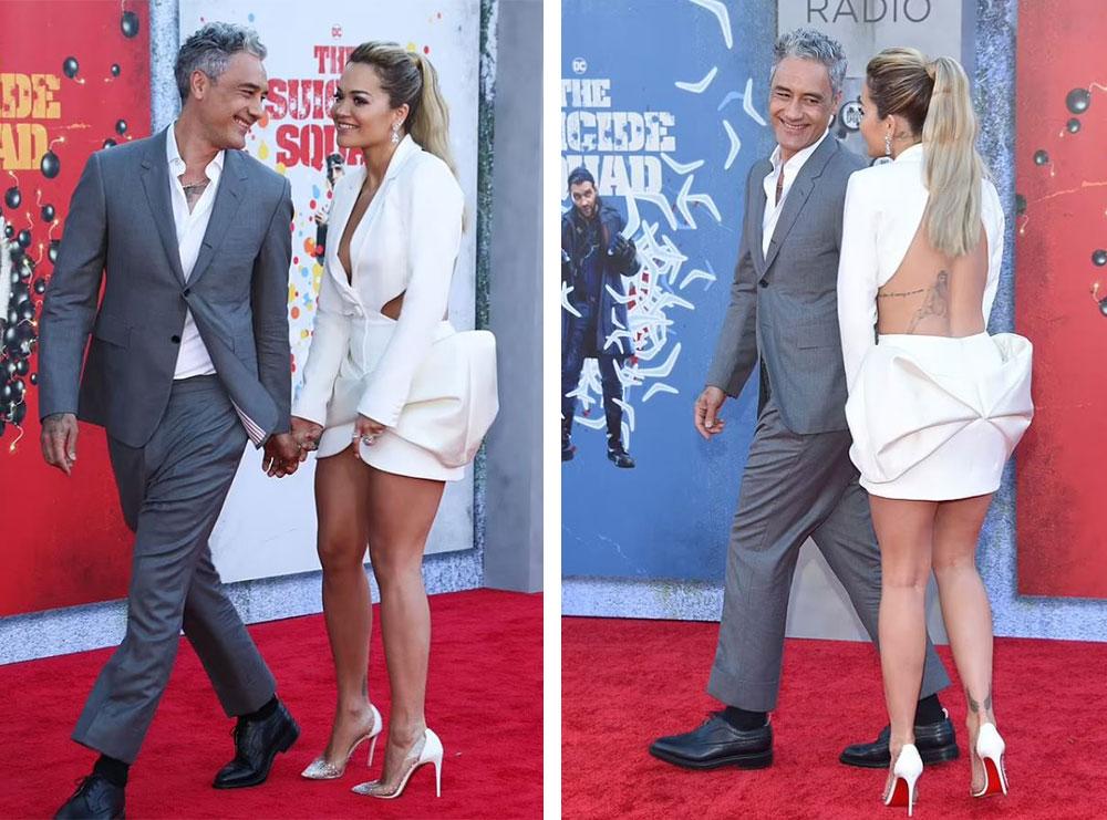 Të kapur dore për dore, Rita Ora dhe i dashuri i saj bëjnë debutimin e parë si çift gjatë premierës së filmit të famshëm