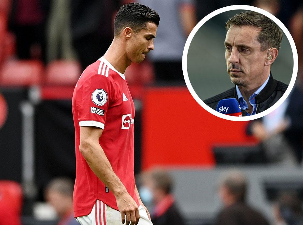 """""""Këto shfaqje shtojnë presionin mbi Solskjaerin"""", Nevil kundër Ronaldos: Nuk ka nevojë të na bëjë skena"""