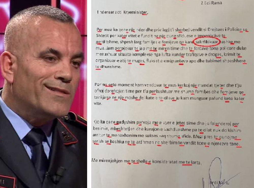 Gabimet drejtshkrimore në dorëheqjen e Ardi Veliut, letra bëhet virale në rrjet